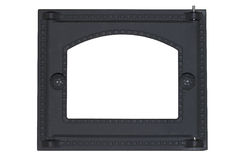 Cast-iron oven door isolated Stock Photos