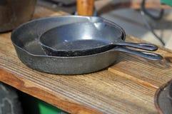 Cast Iron Pans Stock Images