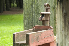 Cast iron pitcher hand water pump Stock Photos
