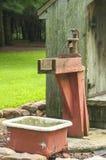 Cast iron pitcher hand water pump Stock Photo