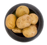 Cast iron pot with a potato Royalty Free Stock Photo