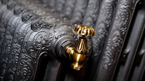 Cast iron radiator Stock Photography