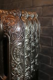 Cast iron radiators. Reproduced from originals of past centuries Royalty Free Stock Photo