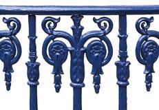 Cast iron railing isolated Royalty Free Stock Photos