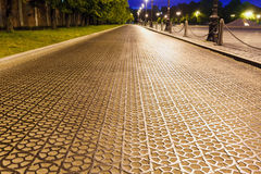 The cast-iron roadway of special checkers Royalty Free Stock Photos