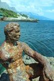 Cast iron sculpture Alyosha Stock Image