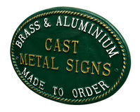 Cast Iron Sign Royalty Free Stock Photos
