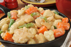 Cast Iron Skillet of Chicken and Dumplings Royalty Free Stock Photos