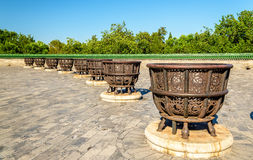 Cast-iron stoves at the Temple of Heaven in Beijing Stock Photography
