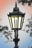 Cast iron street lamp Royalty Free Stock Photos