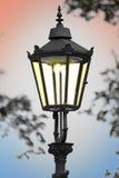 Cast iron street lamp Royalty Free Stock Photos