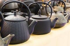 Cast iron teapot Stock Photo