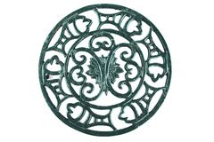 Cast iron trivet royalty free stock images