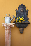 Cast iron wall fountain Royalty Free Stock Image