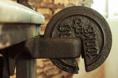 Cast Iron Weight. Royalty Free Stock Photos