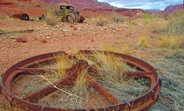 Cast Iron Wheel & Old Truck Royalty Free Stock Photo