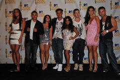Cast of Jersey Shore Stock Photography