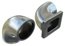 Cast metal elbows stock photo