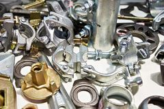 Cast metal parts. In stock Stock Photos