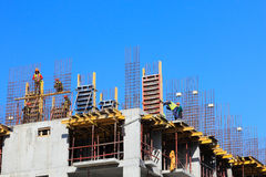 Cast in place concrete construction Royalty Free Stock Photography