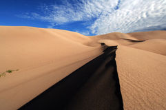 Cast a shadow. Great Sand Dunes, Colorado, casting a shadow royalty free stock photography