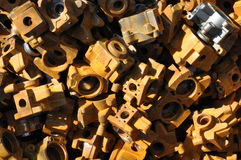 Cast steel parts  scrap metal Stock Images