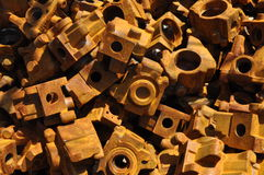 Cast steel parts  scrap metal Royalty Free Stock Photography