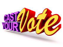 Cast your vote. Vote concept with text cast your vote on clean background vector illustration