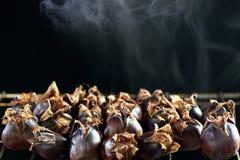 Castaña dulce asada de cocido al vapor al vapor caliente Foto de archivo