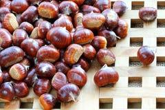 Castañas españolas (castañas dulces) Imagenes de archivo