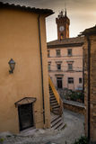 Castagneto Carducci, Leghorn, Italy - The town hall and the towe Stock Photo