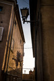 Castagneto Carducci, Leghorn, Italy - Typical medieval streets i Royalty Free Stock Photography