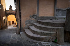 Castagneto Carducci, Leghorn, Italy - typical medieval streets Stock Photography