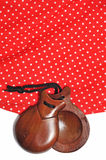 Castagnettes et robe de flamenco Images libres de droits