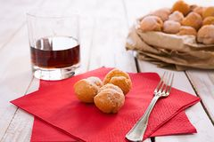 Castagnole typical Italian carnival sweet Royalty Free Stock Photo
