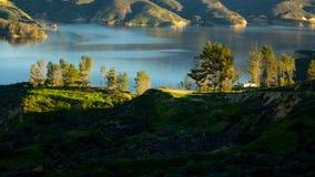 Castaic湖加利福尼亚 免版税图库摄影
