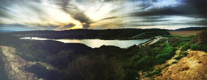 Castaic Lake. Artistic photo overlooking Castaic Lake Royalty Free Stock Images