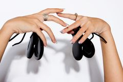 Castanet hands Royalty Free Stock Images