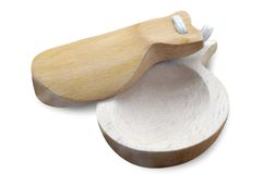 Castanets. Made from wood against white background Stock Photo