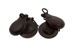 Castanets. Two castanets from spain on the white background Stock Image
