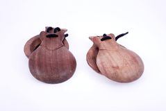 Castanets. Wood castanets stock photos
