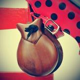 Castanets and flamenco shoes Stock Photos