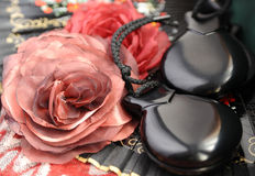 Castanets and flowers Royalty Free Stock Images