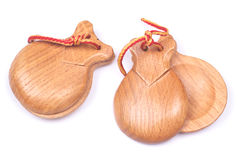 Castanets isolated on white background Stock Photography