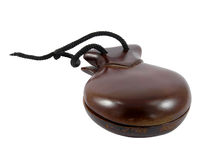 Castanets on a white background Royalty Free Stock Photos
