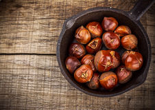 Castanhas Roasted Fotografia de Stock Royalty Free