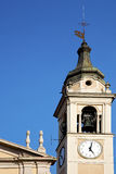 Castano primo    italy   the   wall  and   tower bell sunny day Stock Photo