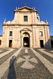 In  the castano primo  old   church  closed Royalty Free Stock Photo