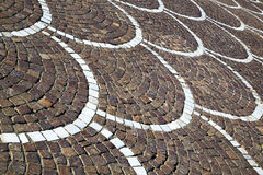 In   castano primo  street lombardy italy  v. In the castano primo  street lombardy italy  varese abstract   pavement of a curch and marble Stock Photo