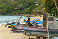 Castara bay beach, Tobago Royalty Free Stock Photography